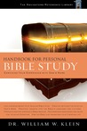 Handbook for Personal Bible Study: Enriching Your Experience with God's Word