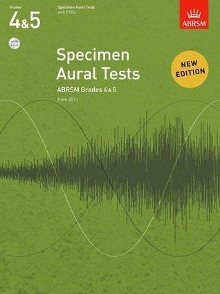 Specimen Aural Tests Grades 4 5 with 2 CDs