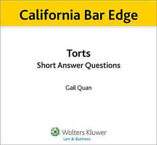 California Torts Short Answer Questions for the Bar Exam