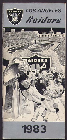 Los Angeles Raiders Yearbook / Media Guide