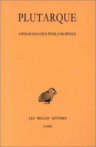 Ebook Oeuvres Morales, Tome XII-2 ; Opinions des philosophes by Plutarch TXT!