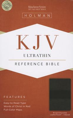 KJV Ultrathin Reference Bible, Brown/Chocolate LeatherTouch Indexed