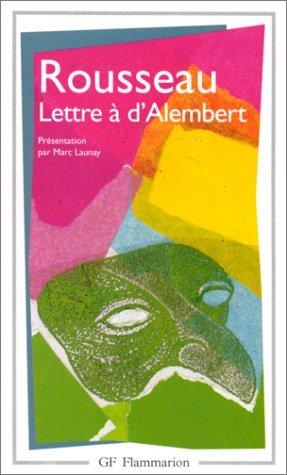 Lettre à d'Alembert