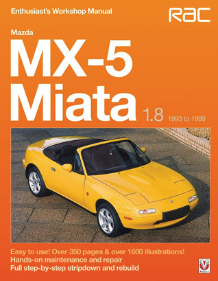 mazda mx 5 miata 1 8 1993 to 1999 enthuasiast workshop manual by rh goodreads com 1993 mazda miata owners manual pdf 1994 Miata