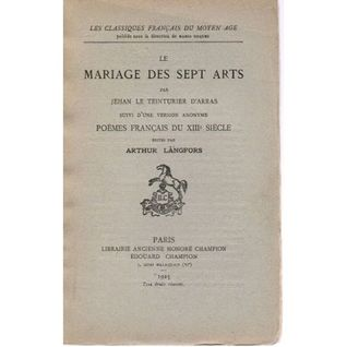 le Mariage des Sept Arts