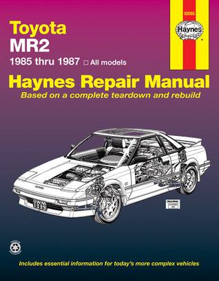 Toyota MR2, 1985-87 Owner's Workshop Manual