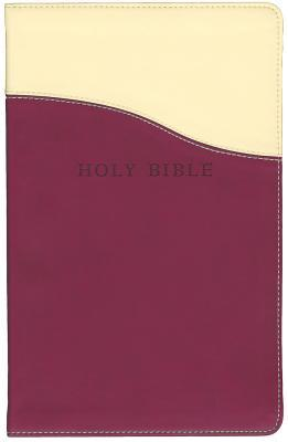 Holy Bible: King James Version Cream / Raspberry Flexisoft Leather Personal Size Giant Print Reference Bible