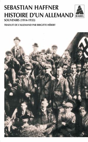 Histoire d'un Allemand : souvenirs 1914-1933