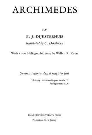 archimedes by e j dijksterhuis 5061477