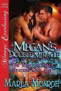 Megan's Double Miracle (Men of Space Station One, #9)