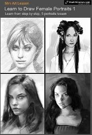 Learn to draw Female Portraits Nº 1