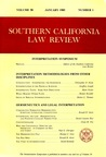 Southern California Law Review: Interpretation Symposium (Vol. 58, No. 1)