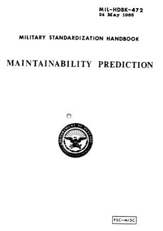 MIL-HDBK-472: Maintainability Prediction