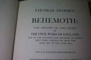 Behemoth: The History of the Causes of the Civil Wars of England