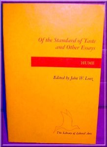 of the standard of taste and other essays by david hume 1315308