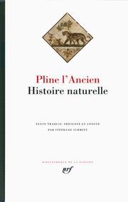 Histoire naturelle por Pliny the Elder, Stéphane Schmitt