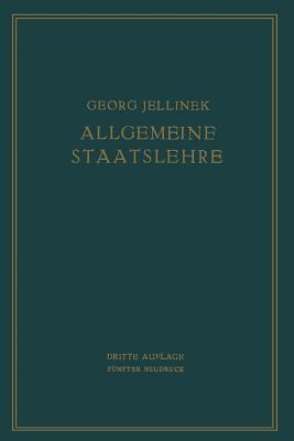 Allgemeine Staatslehre: Manuldruck