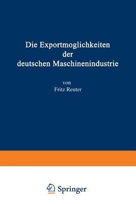 Die Exportmoglichkeiten Der Deutschen Maschinenindustrie