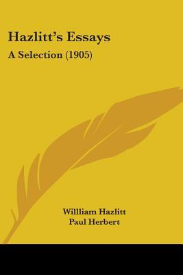 selected essays by william hazlitt