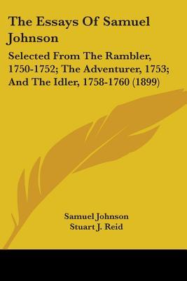 samuel johnson selected essays sparknotes Samuel johnson: selected essays by samuel johnson, david womersley (editor) starting at $1033 samuel johnson: selected essays has 1.