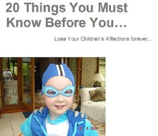 Audiolibros para descargar 20 Things You Must Know Before You... Lose Your Children's Affections forever...