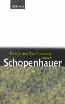 Parerga and Paralipomena, 2 Vols
