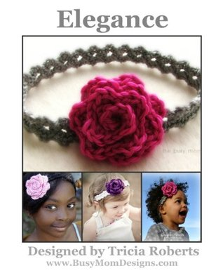Crochet Pattern - Elegance Headband - Easy Headband - All Sizes - by Busy Mom Designs