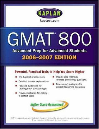 Kaplan GMAT 800, 2006-2007