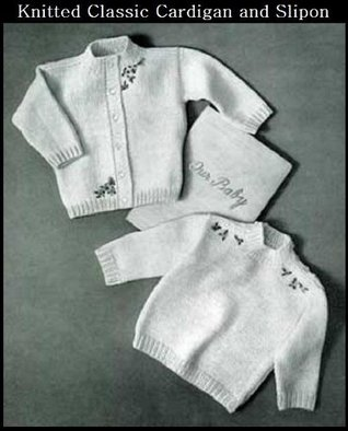 KNITTED CLASSIC CARDIGAN & SLIP-ON SWEATERS - 2 Vintage Baby & Toddler Sweater Knitting Patterns (ePatterns) - Instant Download Kindle Ebook - AVAILABLE ... babies, baby clothes, baby patterns)