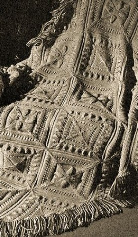SCULPTURED BLOCK KNITTED AFGHAN - A Vintage 1947 Knitting Pattern ~ Kindle eBook Download