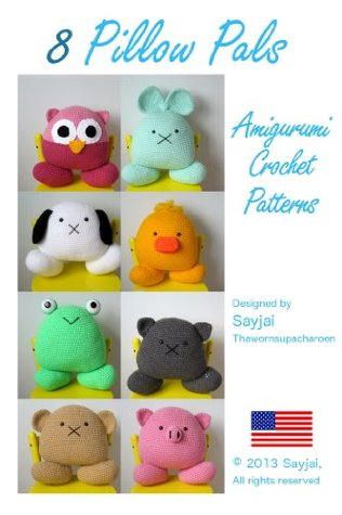 8 Pillow Pals Amigurumi Crochet Patterns