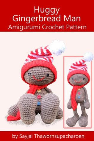 Huggy Gingerbread Man Amigurumi Crochet Pattern