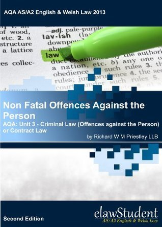 Non Fatal Offences Against the Person - AQA: Unit 3 - Criminal Law (Offences against the Person) or Contract Law (AQA AS/A2 English & Welsh Law 2013)