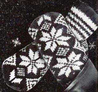 MEN'S 2 NEEDLE NORWEGIAN MITTENS - A Vintage 1952 Knitting Pattern Download for the KINDLE Wireless eBook Reader! (e-book knit knitted Norway gloves yarn craft teens winter snow accessories)