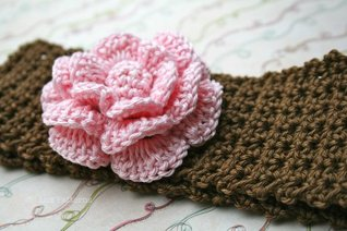 Baby Crochet Headband Pattern With Crochet Flower 99 Sizes Baby To