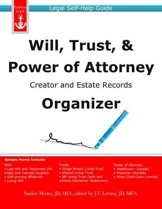 Will, Trust, & Power of Attorney Creator and Estate Records Organizer