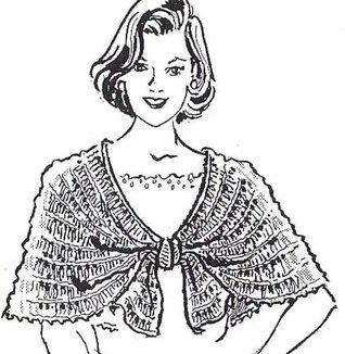 Vintage Crochet Evening Cape Capelet Pattern Shawl Ebook Download