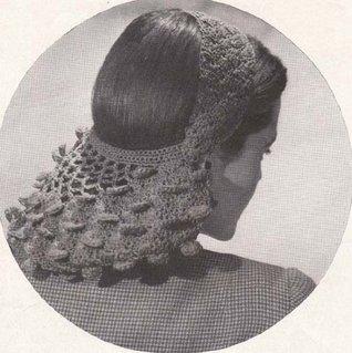 Petal Shell Snood Vintage Crochet Pattern EBook Download
