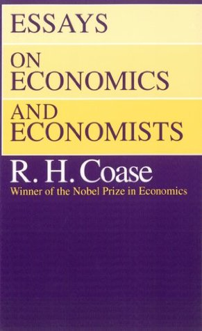 essays on economics and economists by ronald h coase