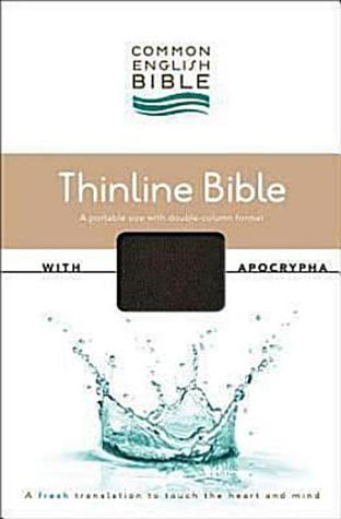 Common English Bible Thinline Black DecoTone with Apocrypha