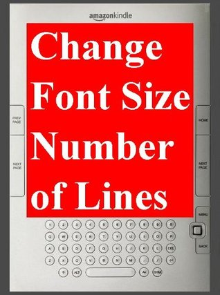 """""""Kindle: FONT SIZE"""" How to change """"Character Font Size"""" & """"Number of Lines"""" on Amazon eBook Reader Kindle. - TKP 0043 -"""