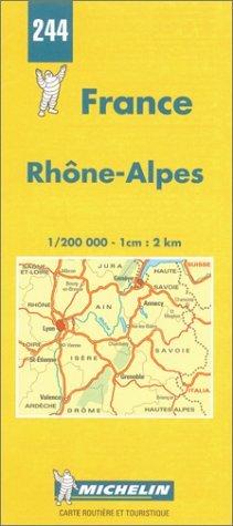 Michelin Rhone-Alpes, France Map No. 244