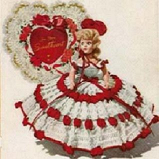 QUEEN OF HEARTS DOLL - A Vintage 1951 Crochet Pattern - Kindle Ebook Download (digital book, dolly, doll clothes, valentine, nursery rhyme)