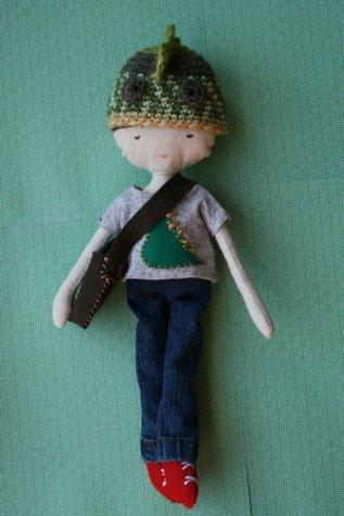 Sewing doll book pattern, dinosaur boy doll toy sewing pattern (02)