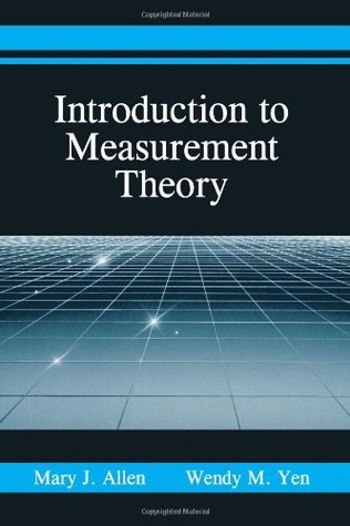 Introduction to Measurement Theory by Mary J. Allen