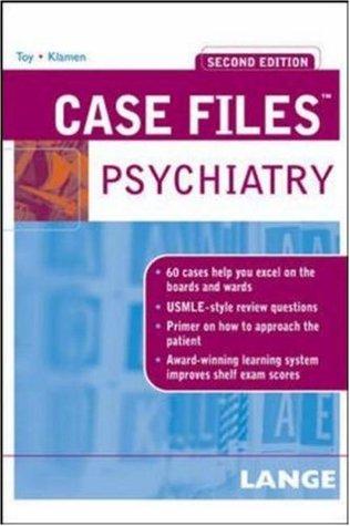 Case Files: Psychiatry by Eugene C  Toy