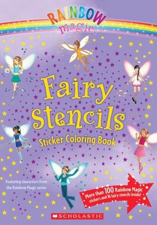Fairy Stencils Sticker Coloring Book by Daisy Meadows