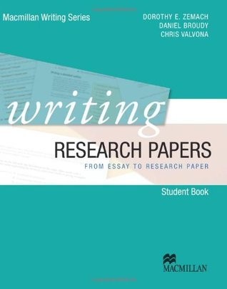 writing research papers from essay to research paper