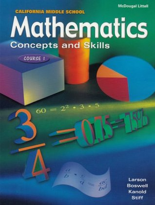 McDougal Littell Middle School Math California: Student Edition Course 1 2001