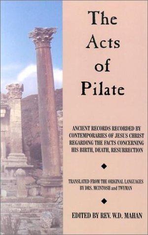 The Acts of Pilate 978-0892281275 EPUB FB2 por William Dennes Mahan